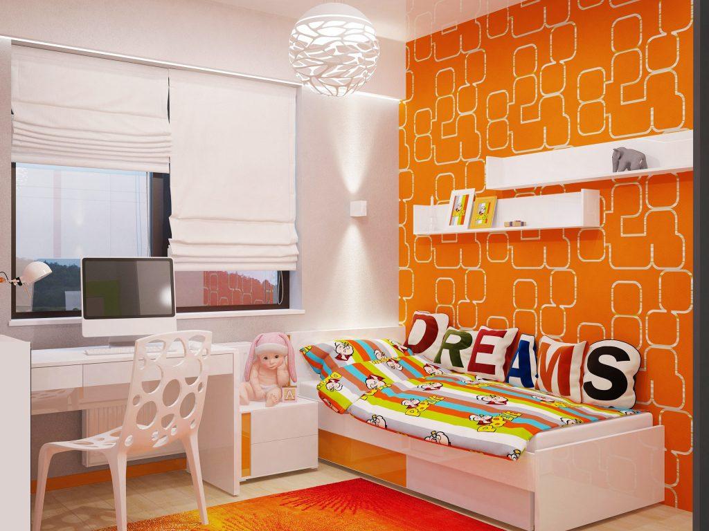 оранжевая детская мебель